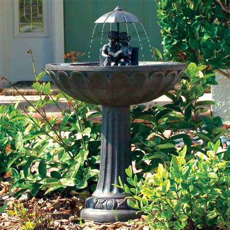solar powered bird bath fountains shop solar water