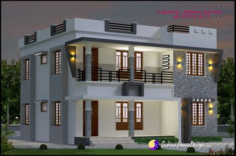 double floor modern style home design 2015 1696 sqft modern double floor kerala home design indian