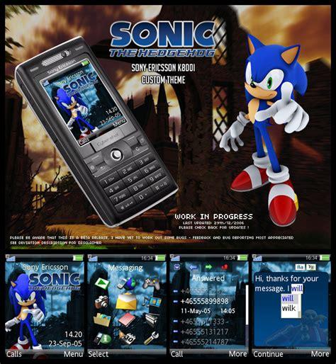 download themes k800i sonic sony k800i theme by cjnicholls on deviantart