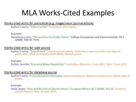 mla works cited template research paper sle mla sle research by