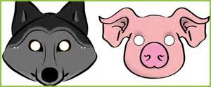 three little pigs role play masks free early years