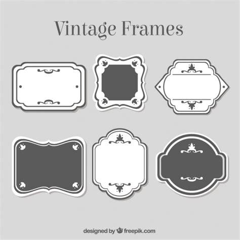 imagenes vintage blanco y negro para imprimir marcos vintage en blanco y negro descargar vectores gratis