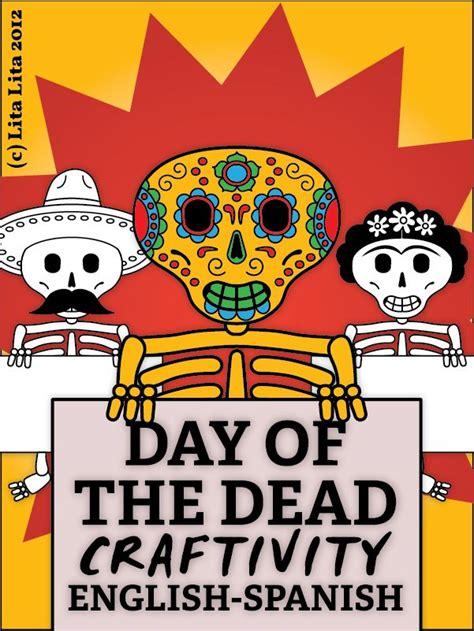 techo spanish to english day of the dead craftivity kid art dotd pinterest