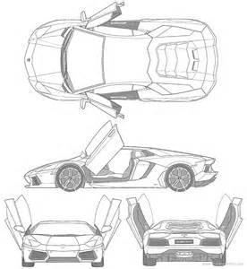 Lamborghini Aventador Blueprint How To Draw Aventador