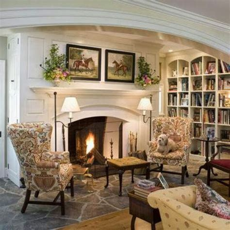 cottage classic decorating ideas english country cottages a cozy fireplace the focal point of the room