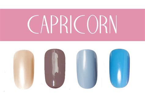 capricorn color nail color by zodiac sign