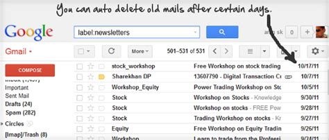 printing mailing labels from gmail contacts how to auto delete old emails in any gmail label