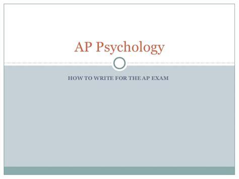 Ap Psychology frq writing for ap psychology