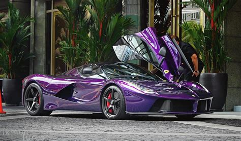 purple ferrari purple laferrari belongs to crown prince of johor