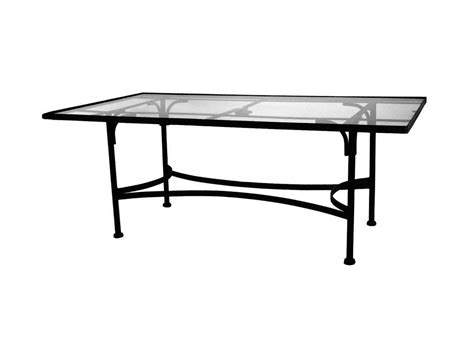 Glass Wrought Iron Dining Table Ow Classico Wrought Iron 84 X 44 Rectangular Tempered Glass Top Dining Table With 2