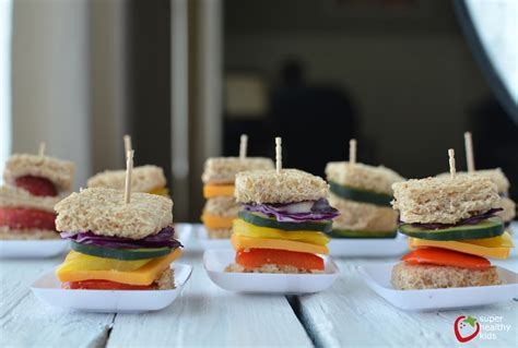 What Colors Make Yellow lunch box idea mini rainbow sandwiches healthy ideas