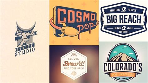 vintage style logo design photoshop retro logo design inspiration