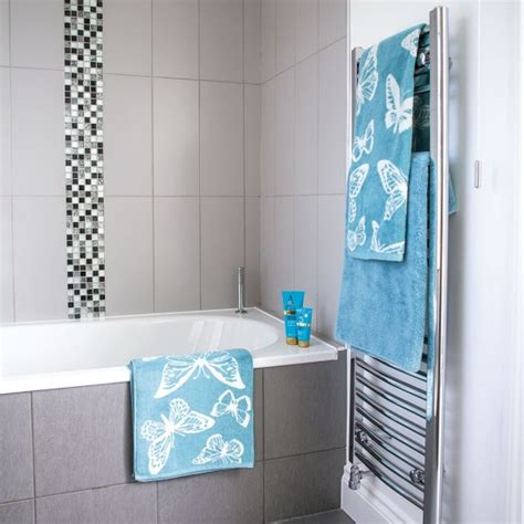 grey and turquoise bathroom grey tiled bathroom with mosaic details and aqua blue