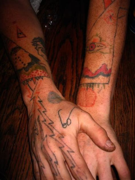 homemade tattoos 25 awful tattoos holytaco