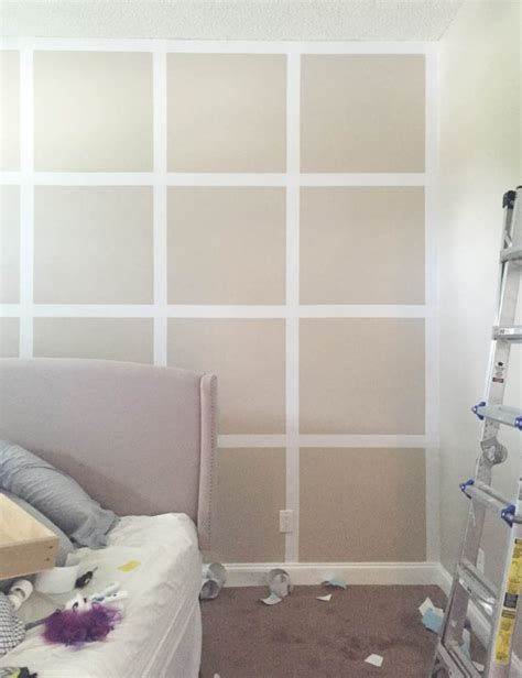 painted wall grid how to create a grid accent wall without paint