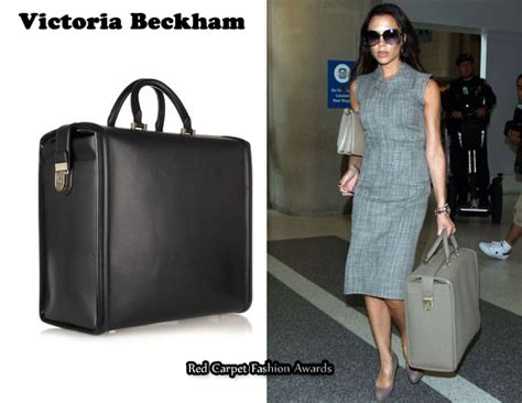 In Beckhams Closet Marc Carpet Fashion Awards by In Beckham S Closet Structured Leather Travel