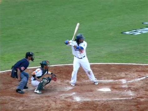 Manny Ramirez Swing by Manny Ramirez S Power Swing 2010 Mlb Taiwan 道奇訪臺交流賽