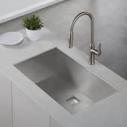 What Is An Undermount Kitchen Sink Kraus Khu32 Pax Stainless Steel Drop In Or Undermount Single Bowl Kitchen Sinks Efaucets