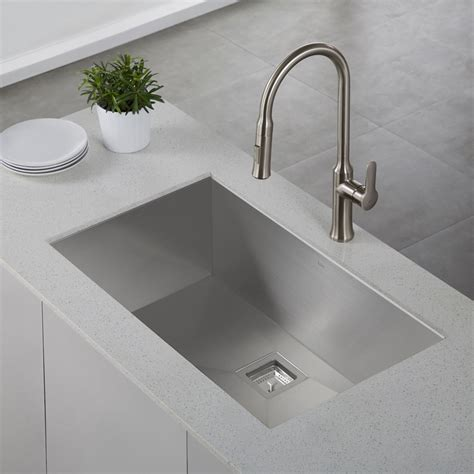 kitchen sinks kraus khu32 pax stainless steel undermount single bowl