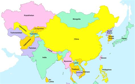 map of countries of asia simple map of asia countries www pixshark images