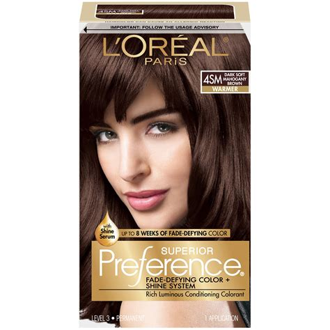 change dark mahogany brown hair to natural chocolate brown with highlights amazon com l oreal superior preference 4sm dark soft