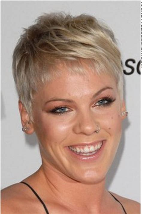 singer pink short hair pink pixie haircut