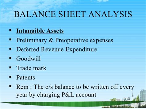 What Is Deferred Mba by Balance Sheet Analysis Ppt Bec Doms Bagalkot Mba Finance