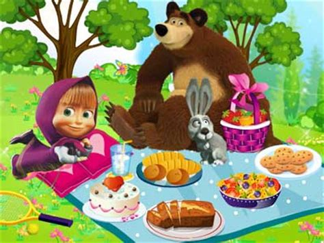 play masha and the picnic free kidzsearch