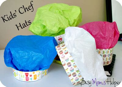 How To Make A Chef Hat Out Of Construction Paper - chef hats busy helper