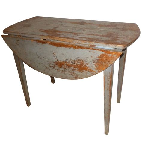 Antique Drop Leaf Table 18th Century Swedish Antique Drop Leaf Table In Original Paint At 1stdibs