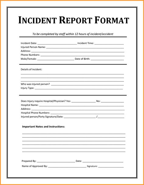 Incident Report Exle Writing Exle Of Incident Report Letter Format Mail