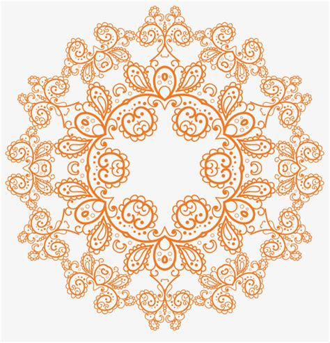 indian pattern frame indian style pattern vector pattern round shading png