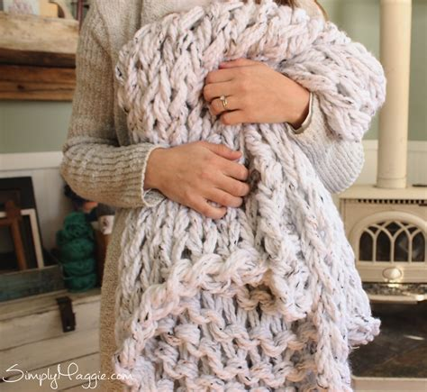 how to knit chunky blanket knit a chunky blanket in 1 hour with arm knitting