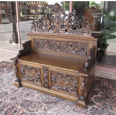 horners bench rj horner figural oak hall or entry bench