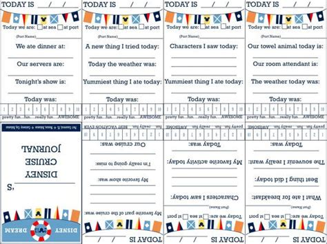 free printable disney journal pages printable foldable disney cruise journal great fe gift