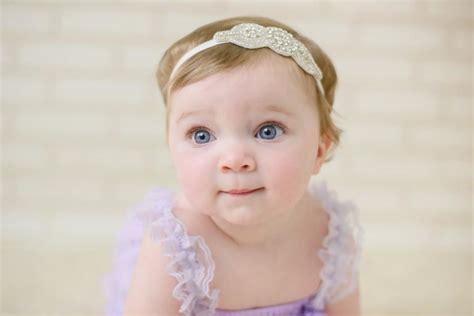 flower headband rhinestone headband newborn headband headband b wedding