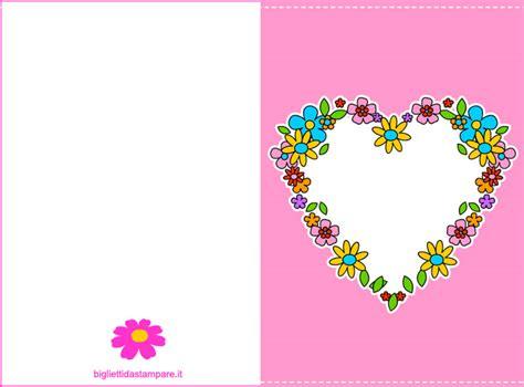 biglietti con fiori biglietto festa della mamma gratis cuore con fiori