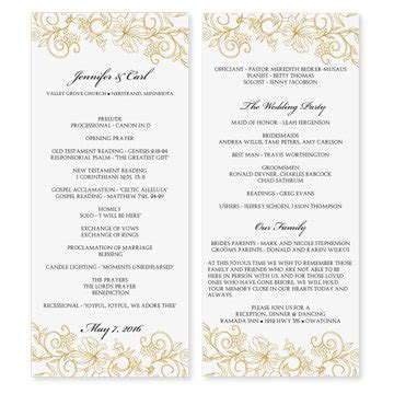 Wedding Program Template Download Instantly By Karmakweddings Free Wedding Program Templates For Microsoft Word