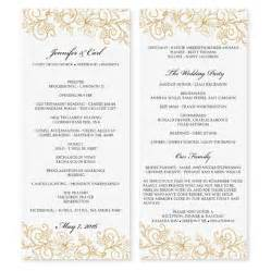 wedding program template microsoft word wedding program template instantly by karmakweddings