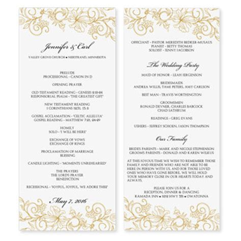 Word Program Templates by Wedding Program Template Word Cyberuse