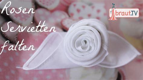 braut tv rosen servietten falten hochzeit tischdeko diy