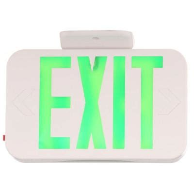exit lights home depot progress lighting thermoplastic led exit sign with green