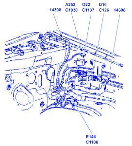 ford explorer  electrical circuit wiring diagram carfusebox