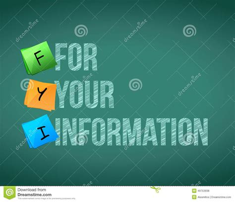 Fyi For Your Information Board Sign Illustration Stock