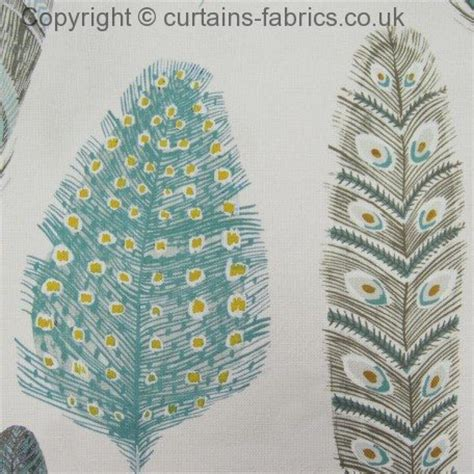 Printable Fabric Uk   samui print by voyage decoration in peacock curtain fabric