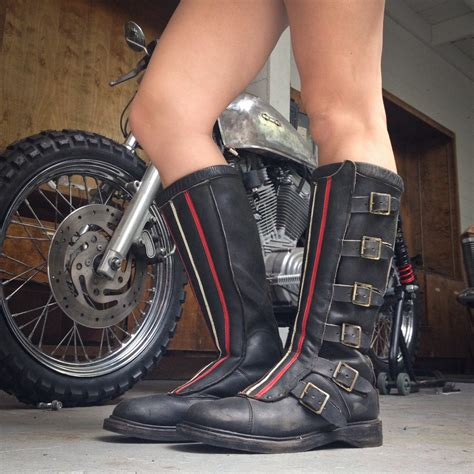 leather dirt bike boots wheelsport rugged rider boots moto lady