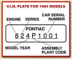 Pontiac Vin Codes Tin Indian Performance Gto Vin Decoding
