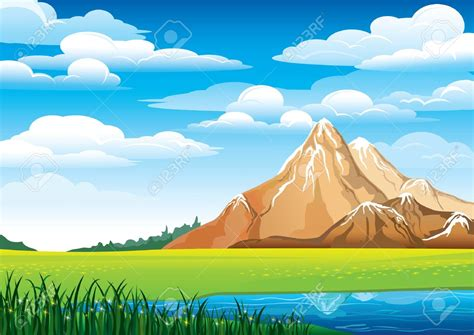 clipart montagna lake clipart mountain background pencil and in color