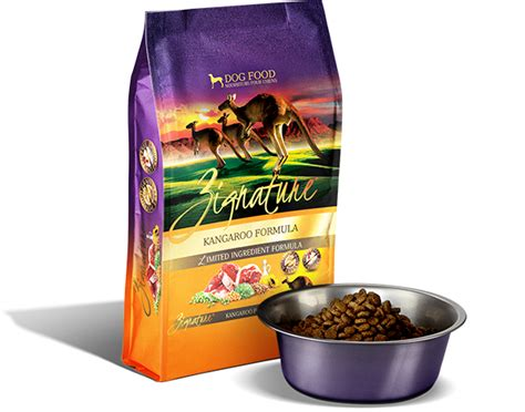 zignature puppy food zignature kangaroo formula food all is well