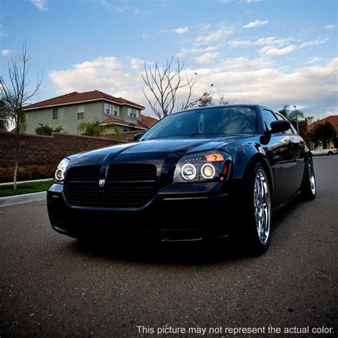 2005 07 Dodge Magnum Black Led Halo Led Projector Headlights